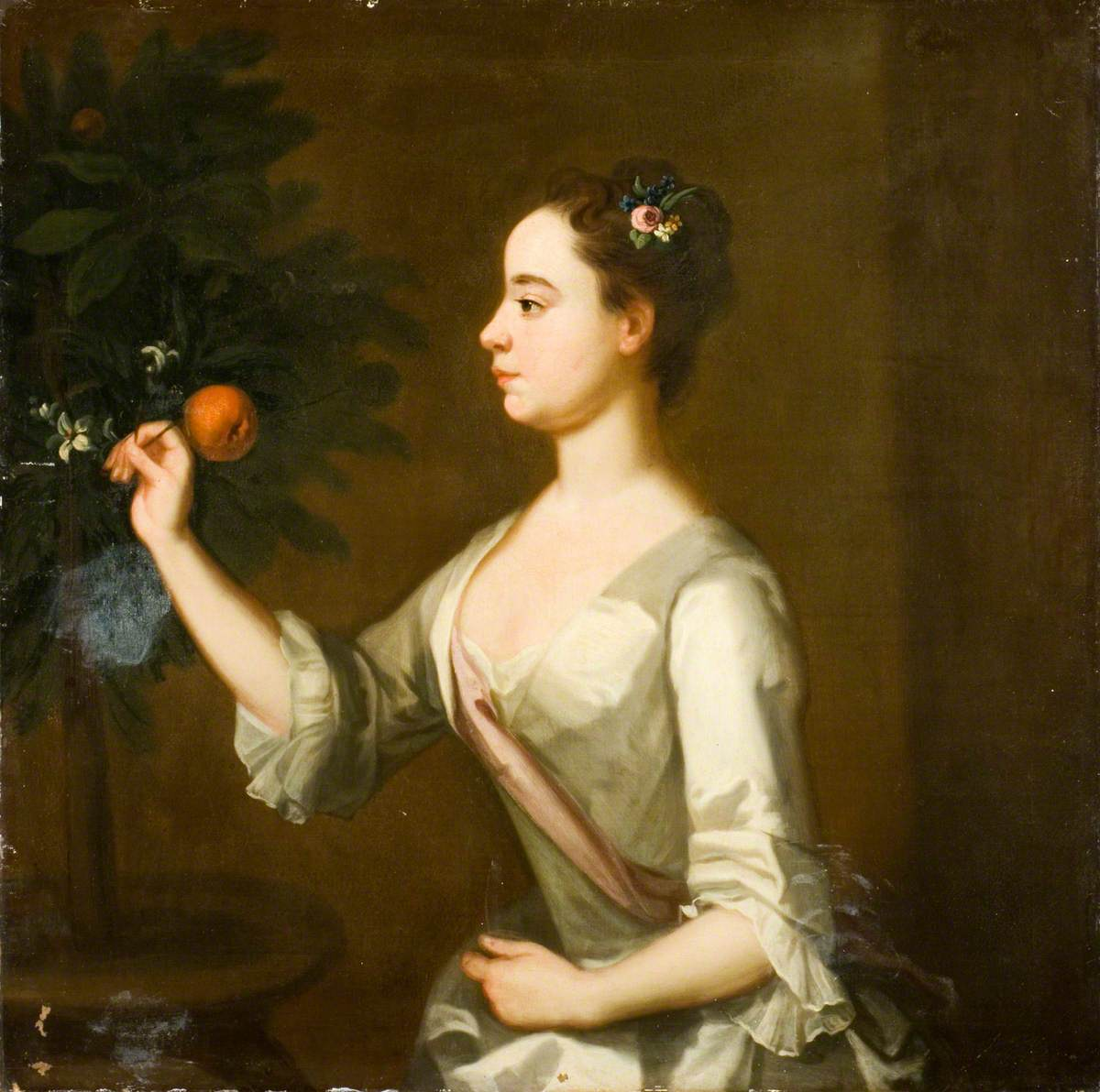 Lucy Baynes Plucking an Orange