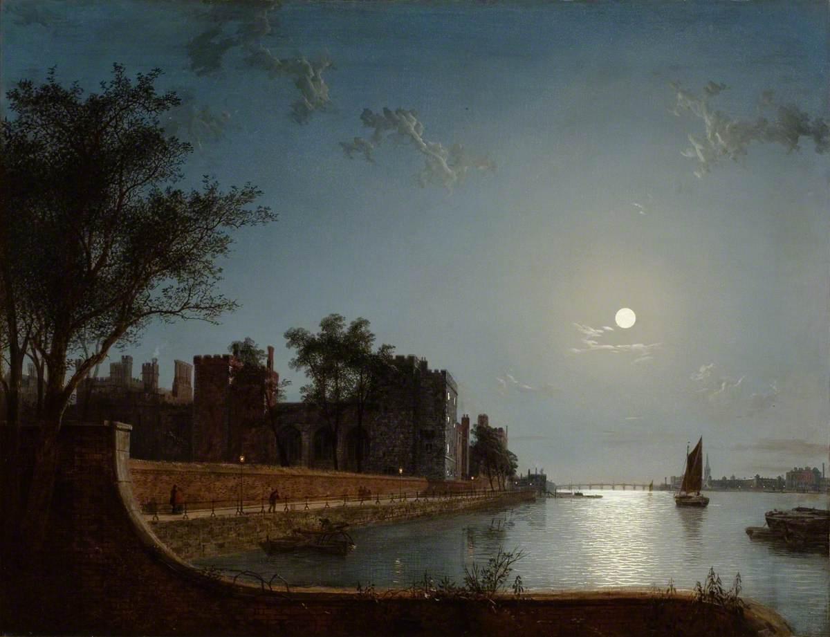 Lambeth Palace by Moonlight