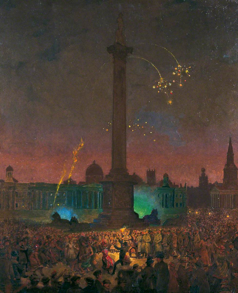 Armistice Night, Trafalgar Square