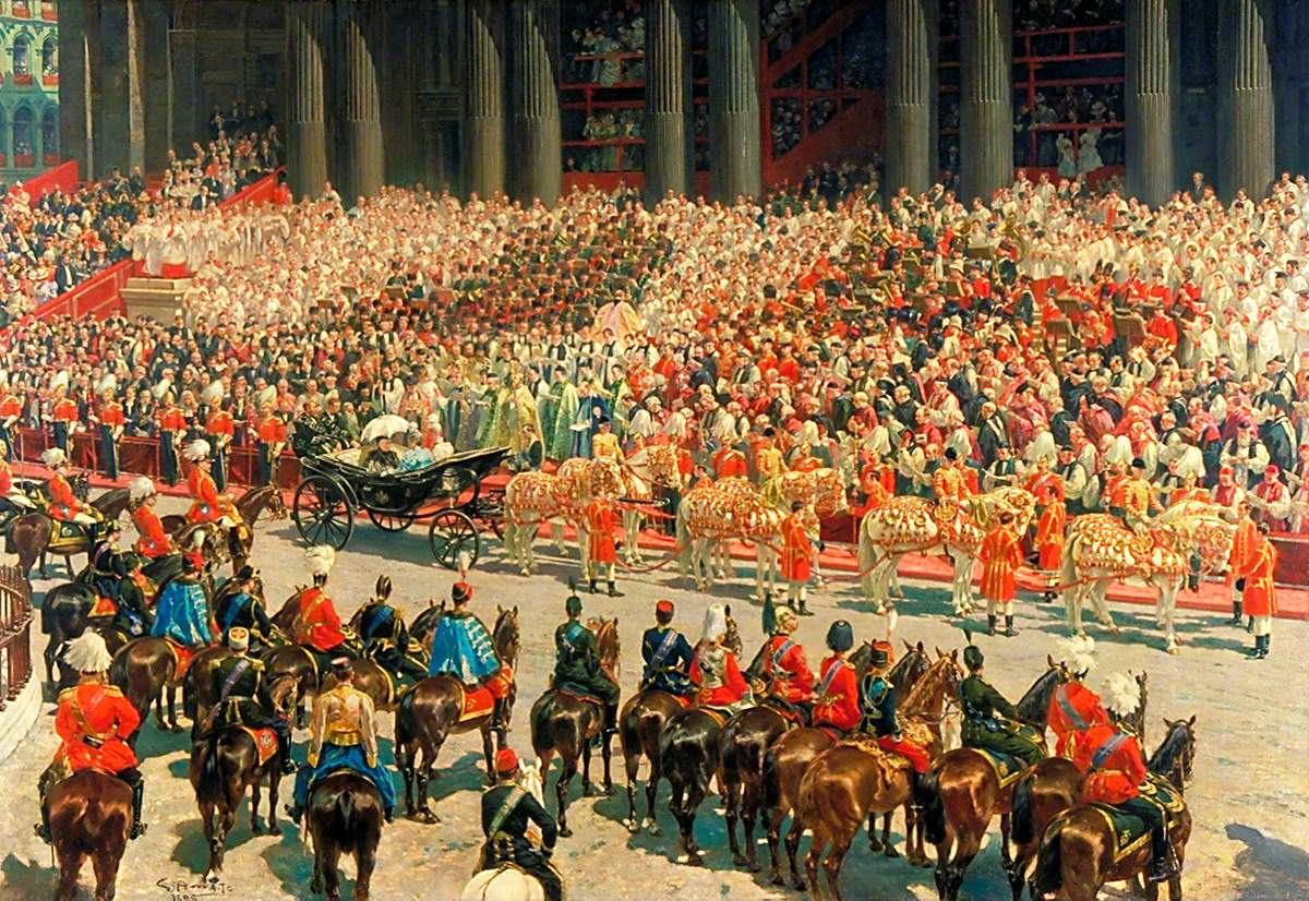 Queen Victoria's Diamond Jubilee Service outside St Paul's Cathedral, 22 June 1897