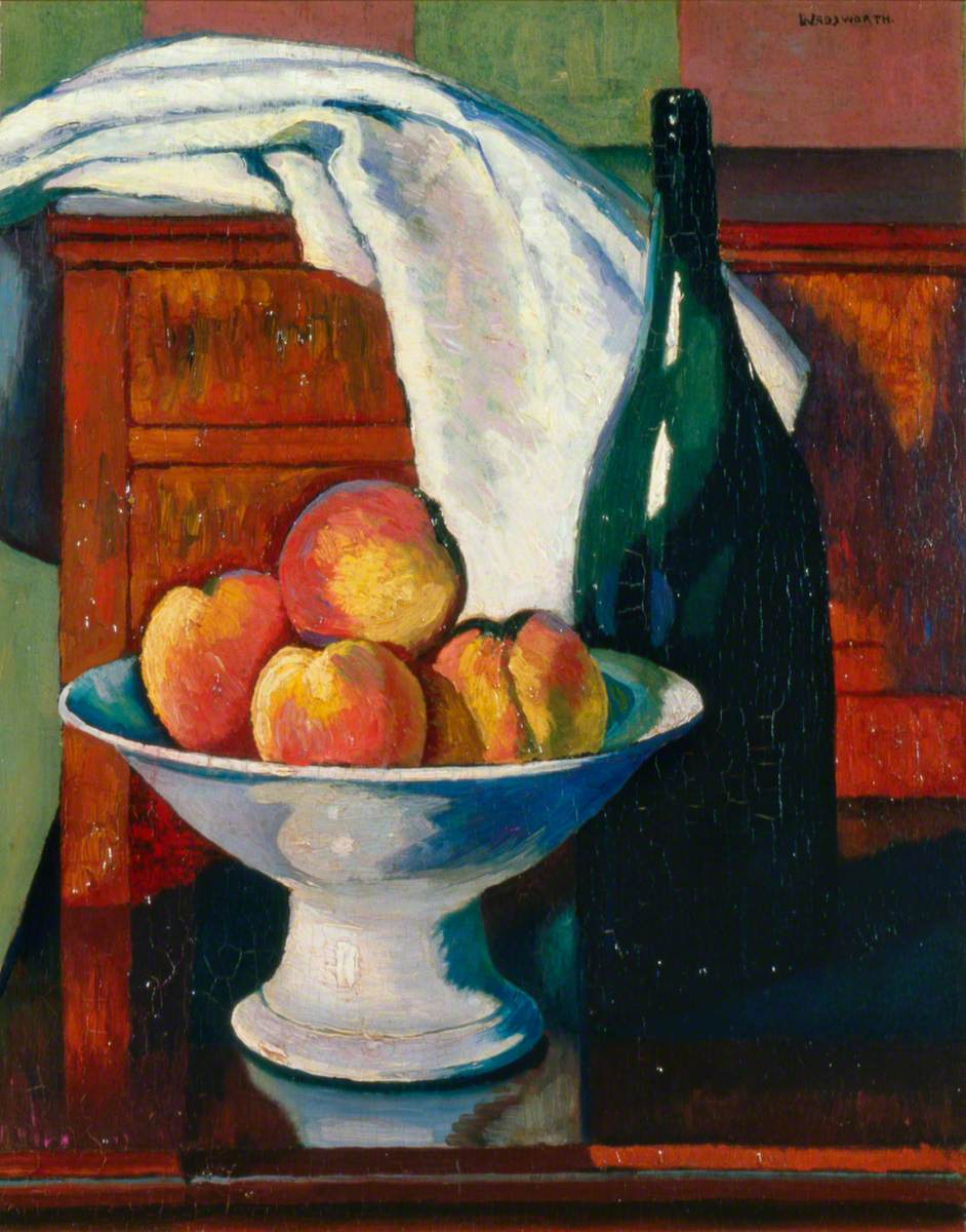 Still Life with Fruit and a Bottle