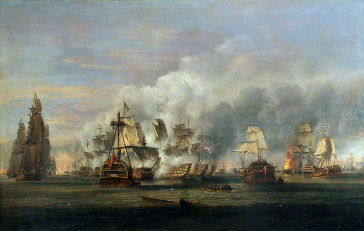 The Battle of Trafalgar, 21 October 1805