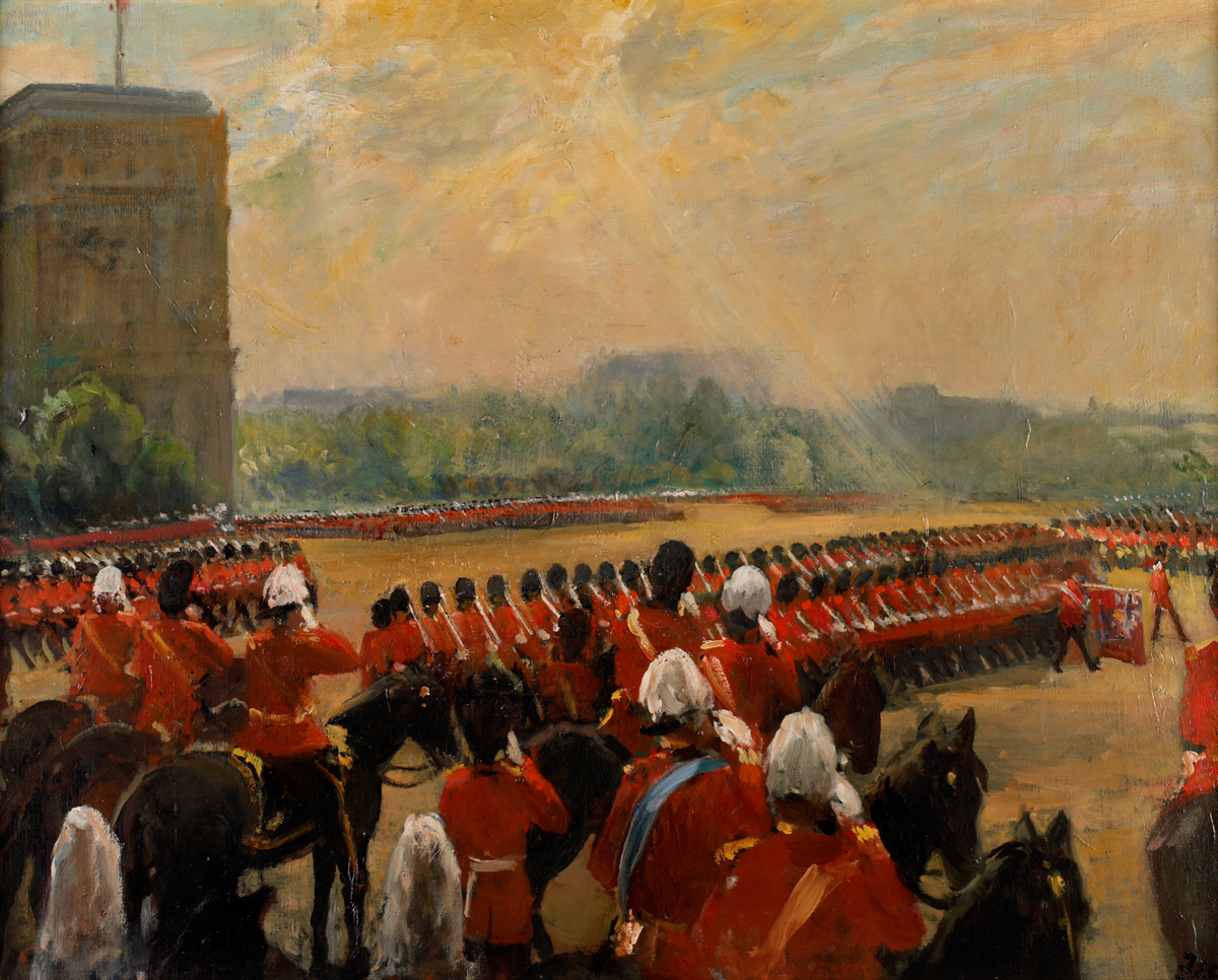 Trooping the Colour before King Edward VII