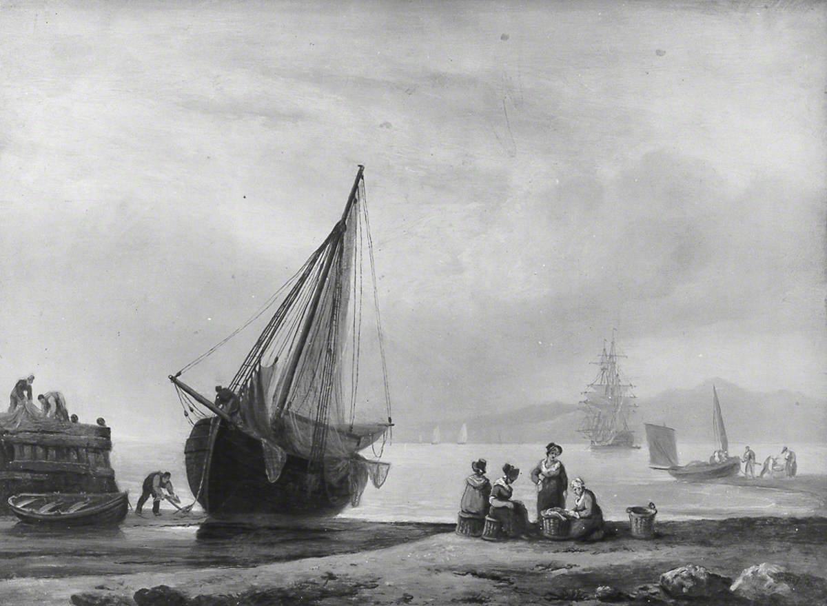 Coast Scene with Fishing Boats