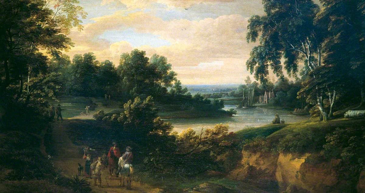 Landscape with a River and Horsemen
