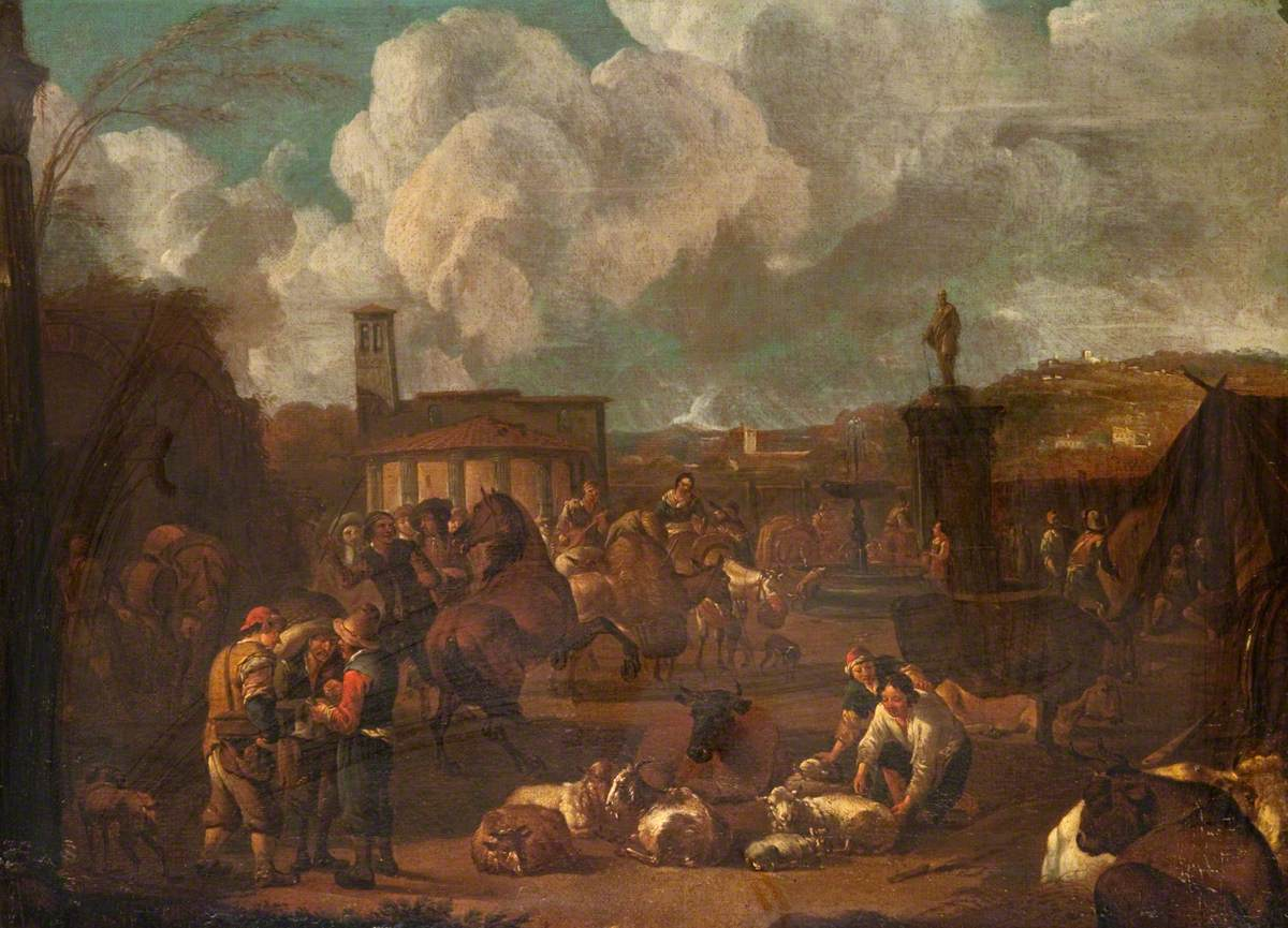 Cattle Market in Italy