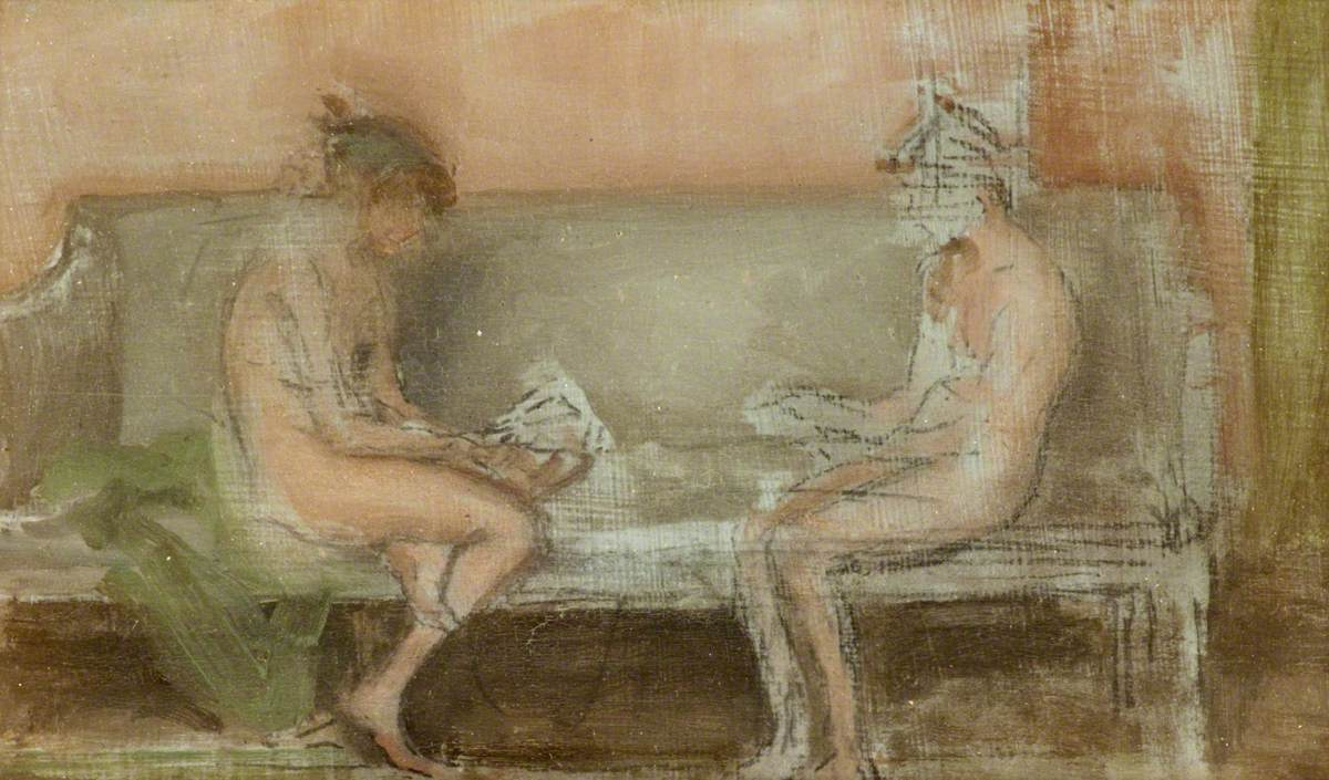 Flesh Colour and Silver: The Card Players