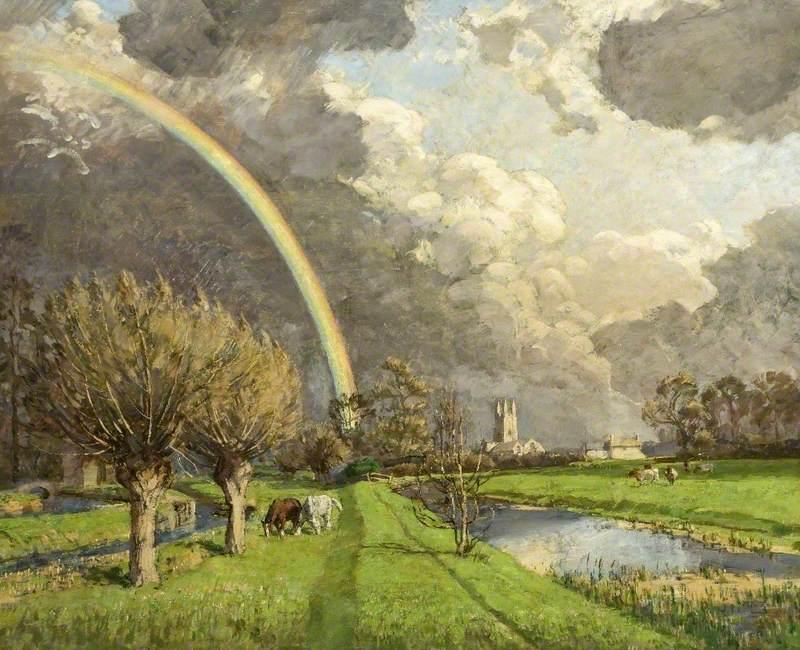 Rainbow over Cricklade, Wiltshire