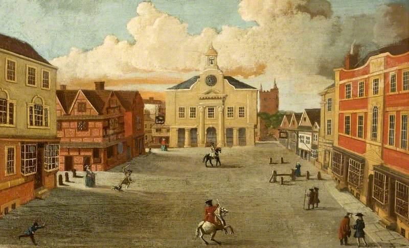 A View of Devizes Market Square, Wiltshire