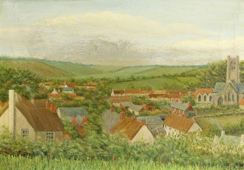Aldbourne, Wiltshire, General View of the Village
