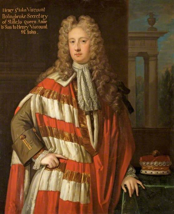 Henry St John (1678–1751), 1st Viscount Bolingbroke, Secretary of State to Queen Anne, Son to Henry St John, 1st Viscount St John (1652–1742)