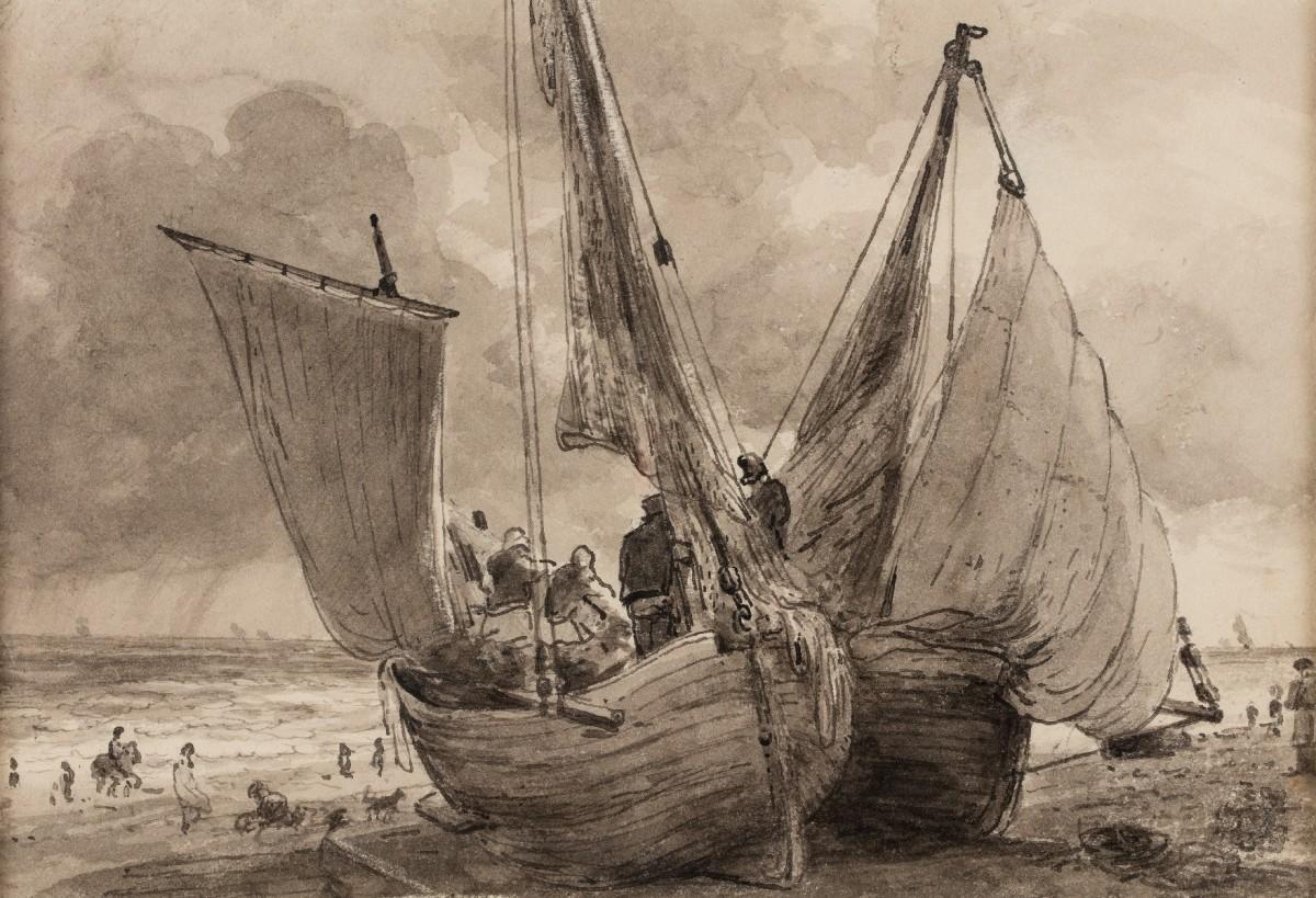 A Lugger and Hog Boat, Brighton