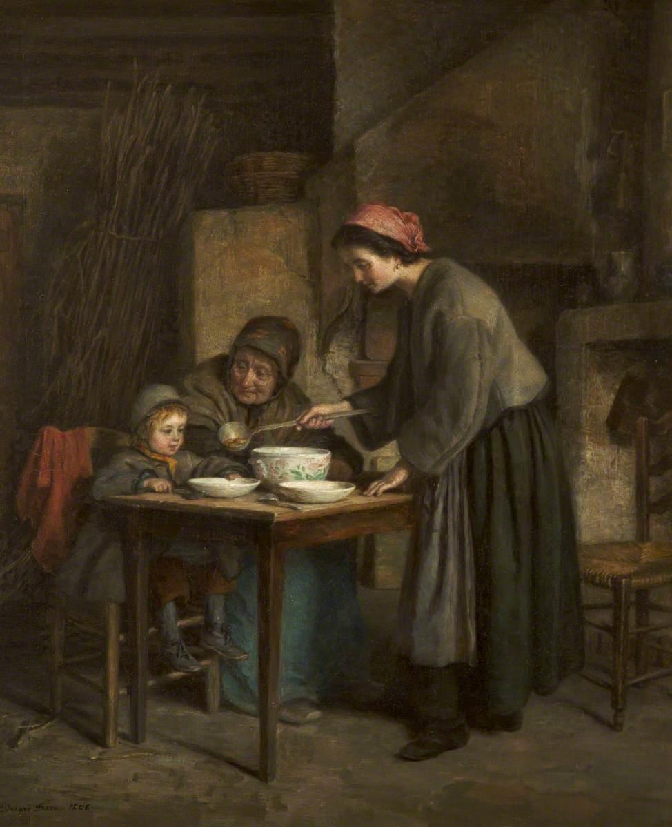 Dinner Time (Cottage Interior)