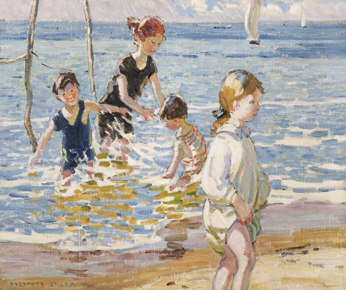 Children Paddling