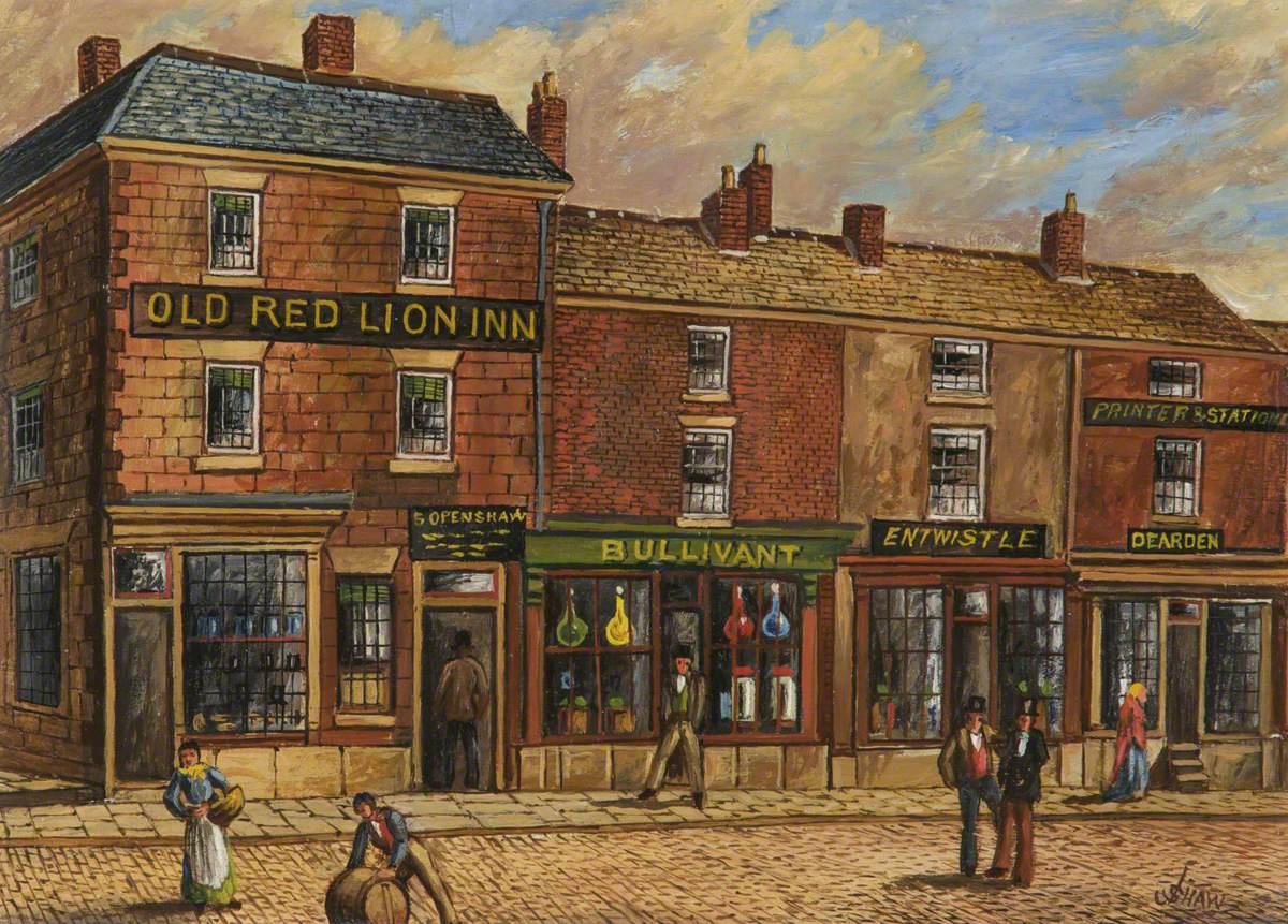 'Old Red Lion Inn', Fleet Street, Bury, 1861