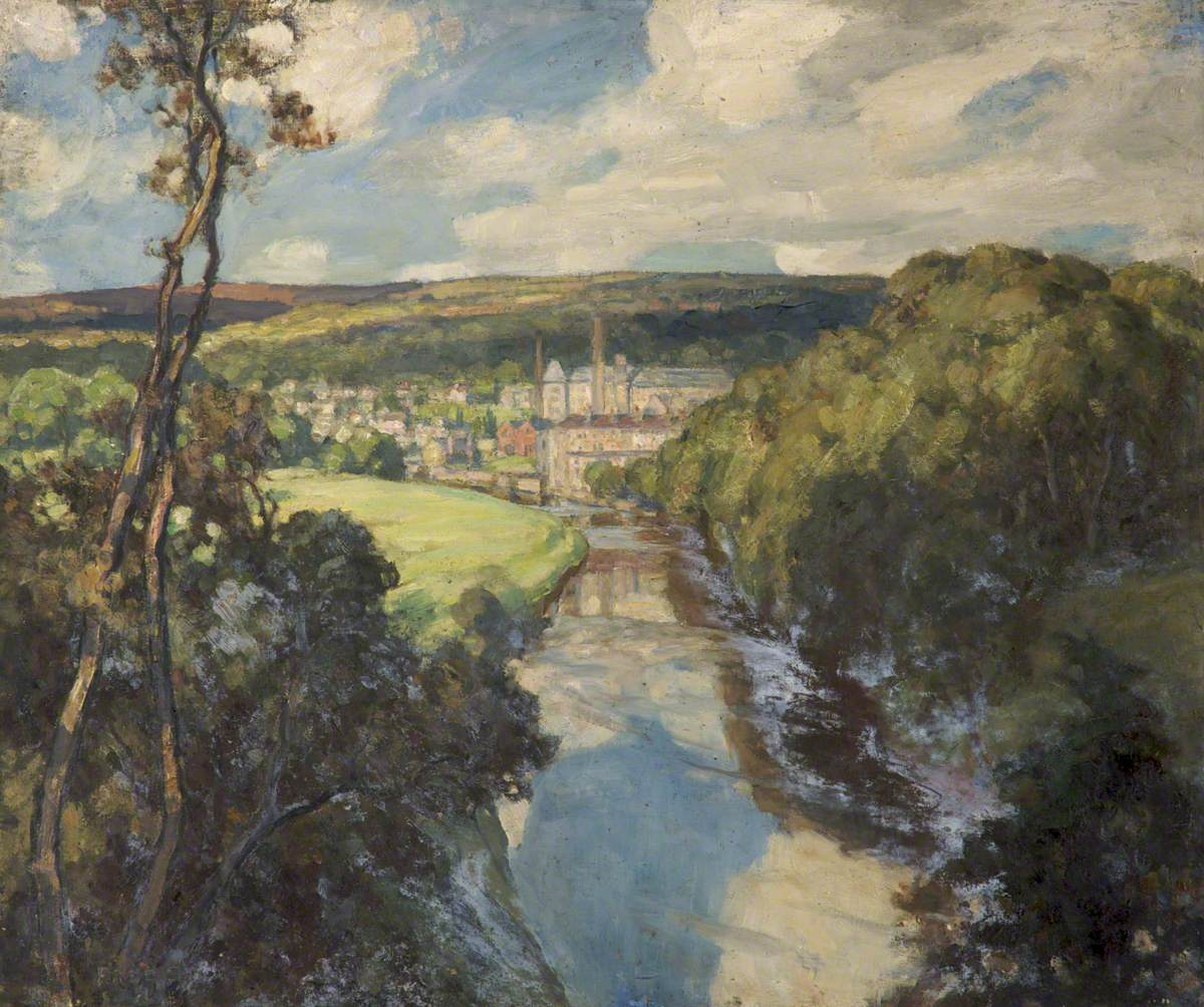 River at Bingley, Yorkshire