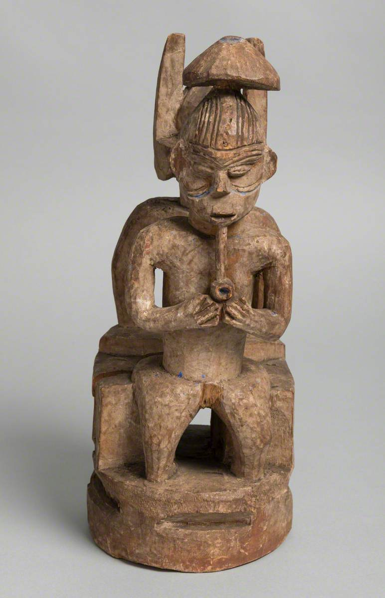Carved Statue (possibly of Ikenga and wife)