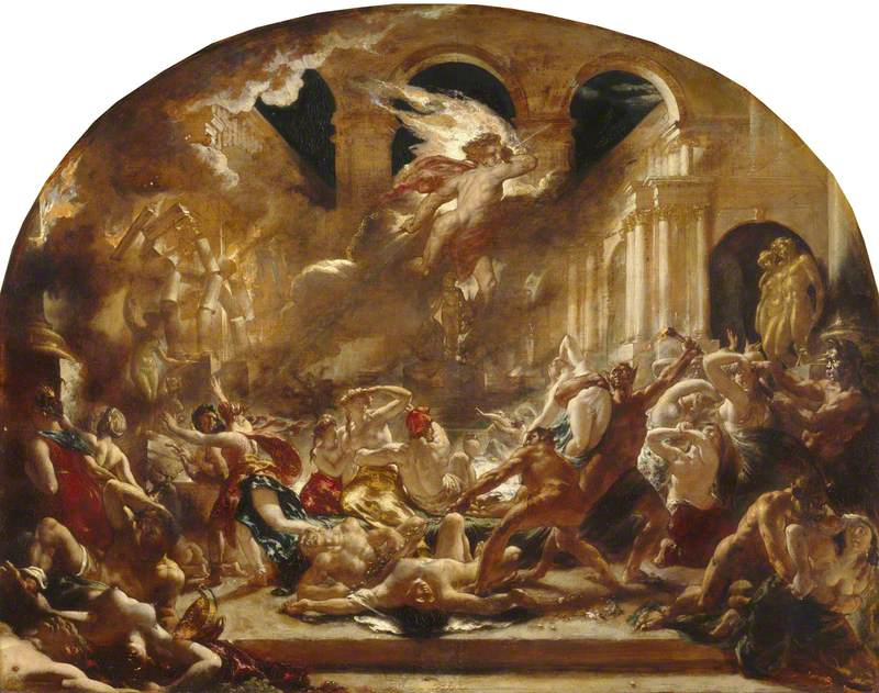 The Destroying Angel And Daemons Of Evil Interrupting The Orgies Of The Vicious And Intemperate Art Uk Angel of Evil