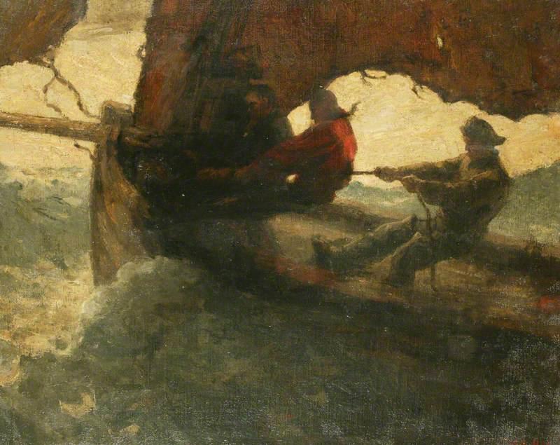 Fishermen in a Stormy Sea