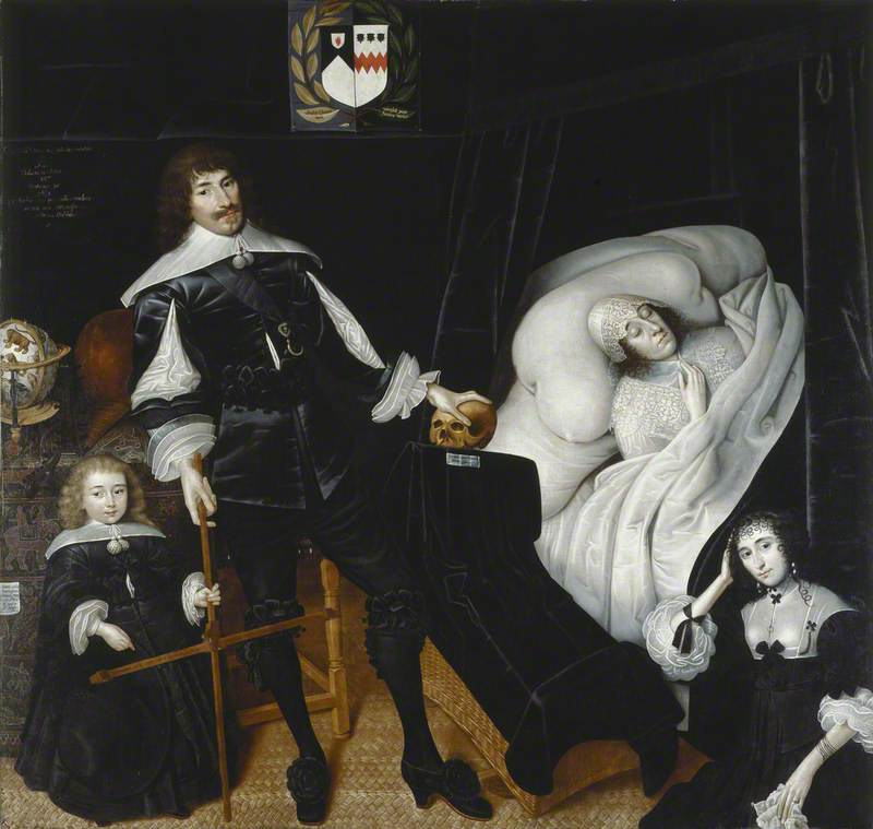 Sir Thomas Aston at the Deathbed of His Wife