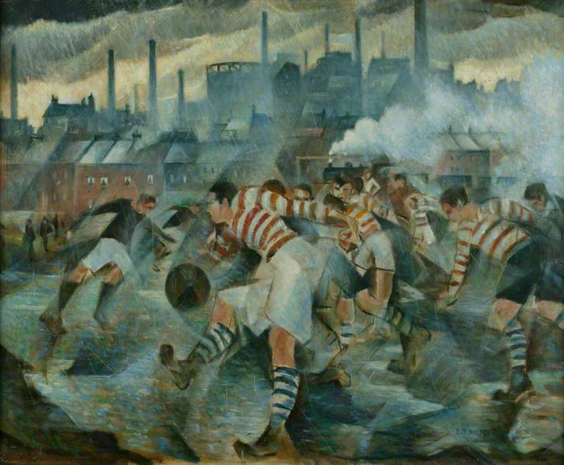 Football in Art Christopher Richard Wynne Nevinson, Any Wintery Afternoon in England