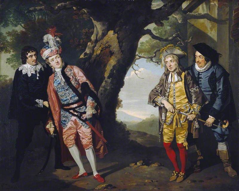 A Scene in 'Twelfth Night', Act III