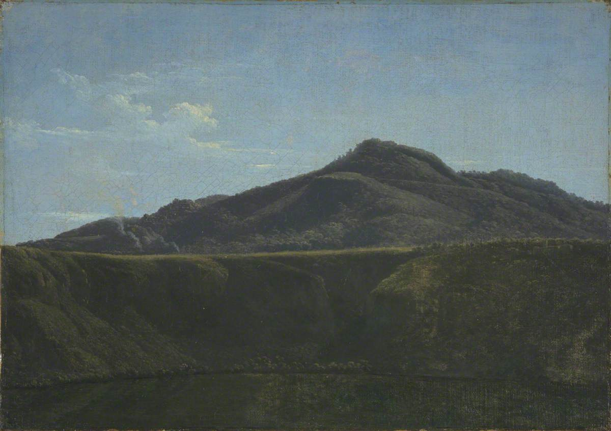 Monte Cavo from Lake Albano
