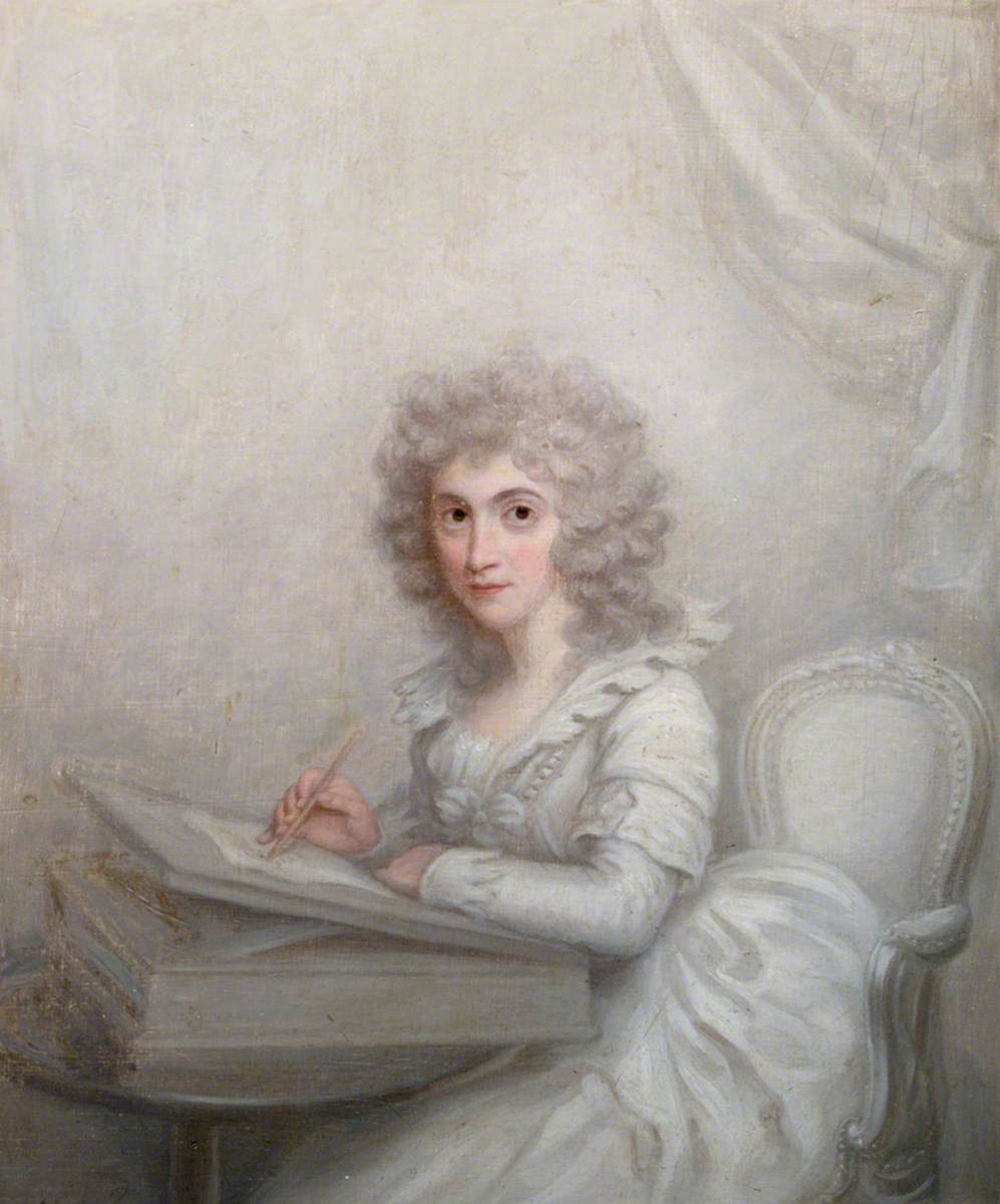 Portrait of a Lady Seated at a Table Writing a Letter