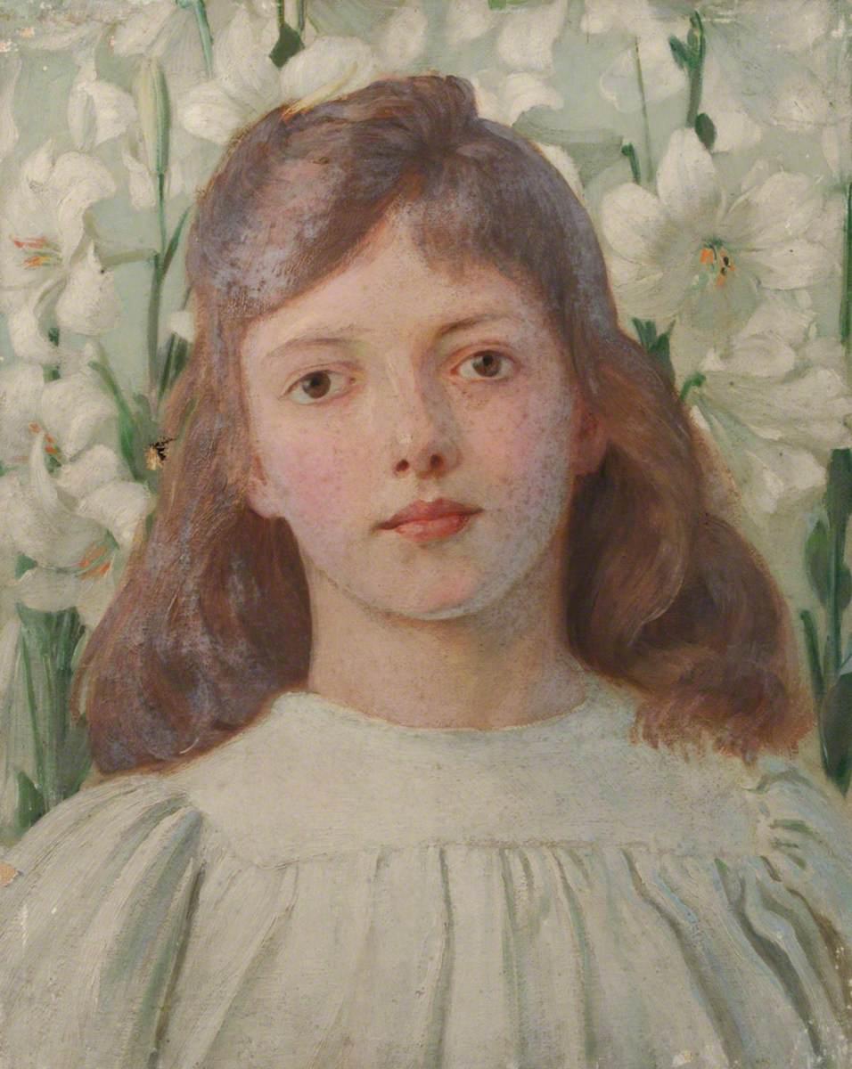 Portrait of a Girl amongst Madonna Lilies