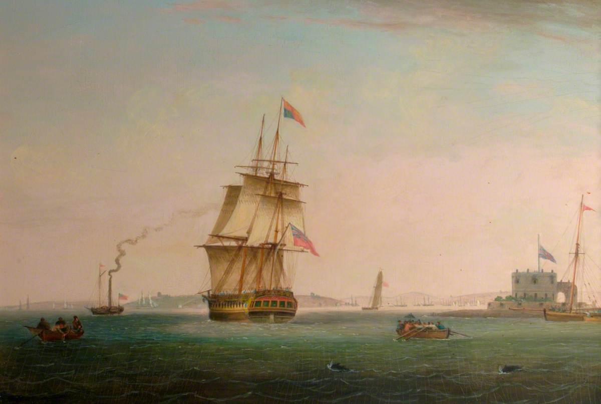 'The Royal George' Leaving Southampton Water with George IV on Board