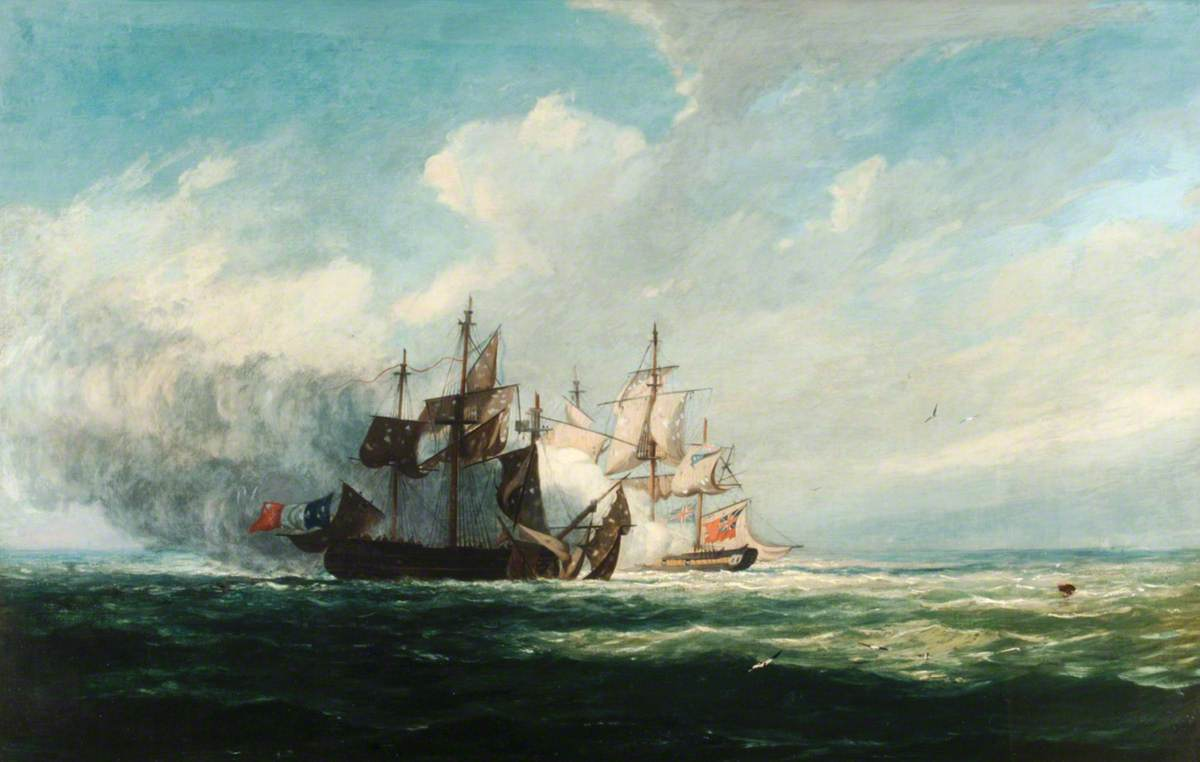 Action between HM Sloop 'Bonne Citoyenne', and the French Frigate 'La Furieuse'