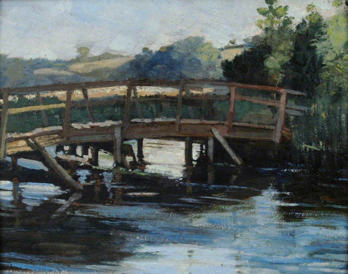 Old Wooden Bridge over the River Itchen