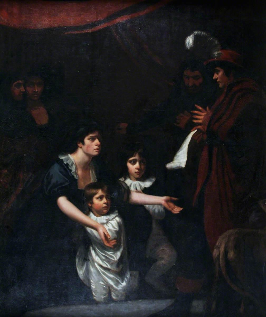 Lady Elizabeth Woodville Pleading for Her Children before Edward IV