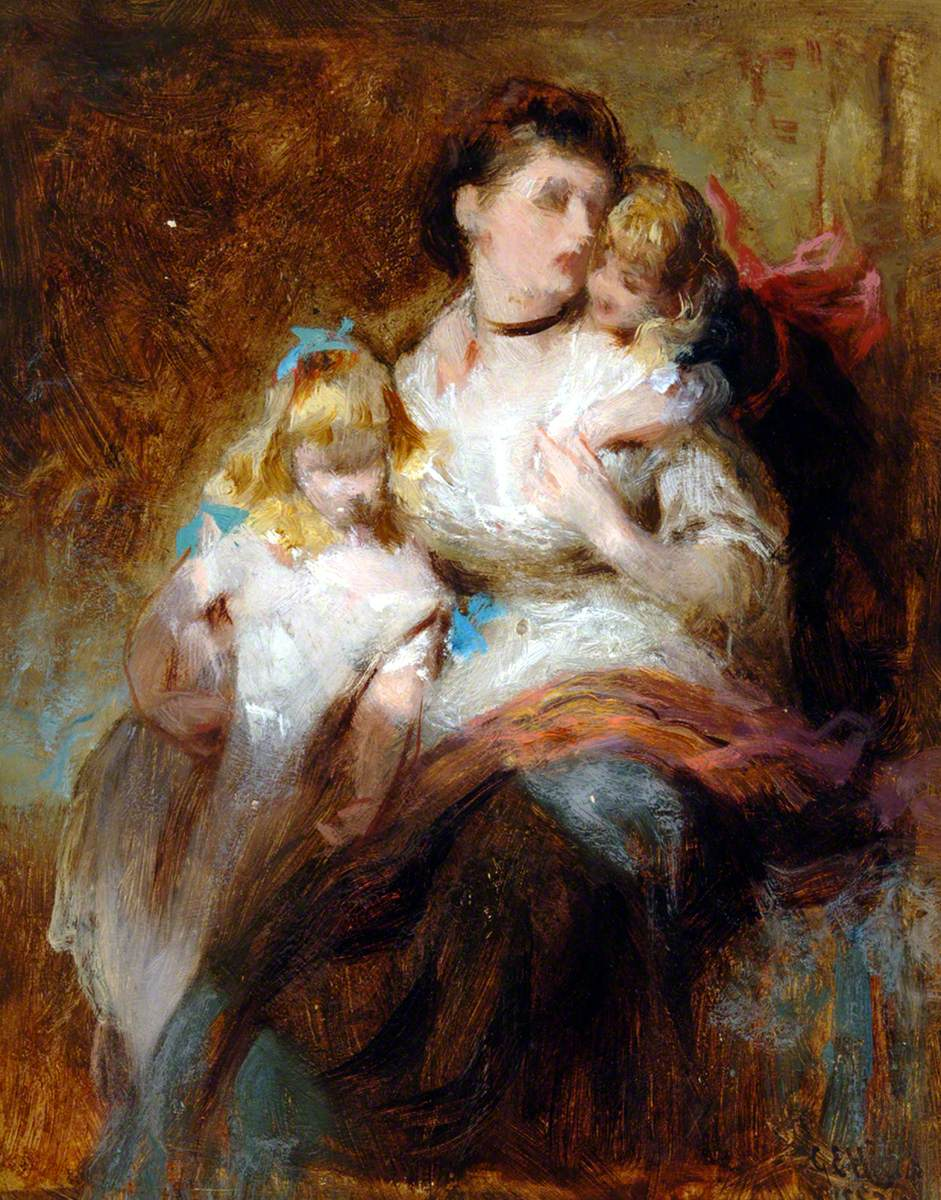 Seated Woman and Two Children