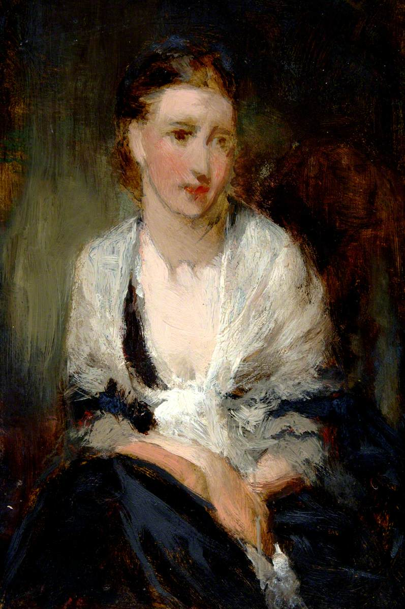 Seated Lady in White Shawl
