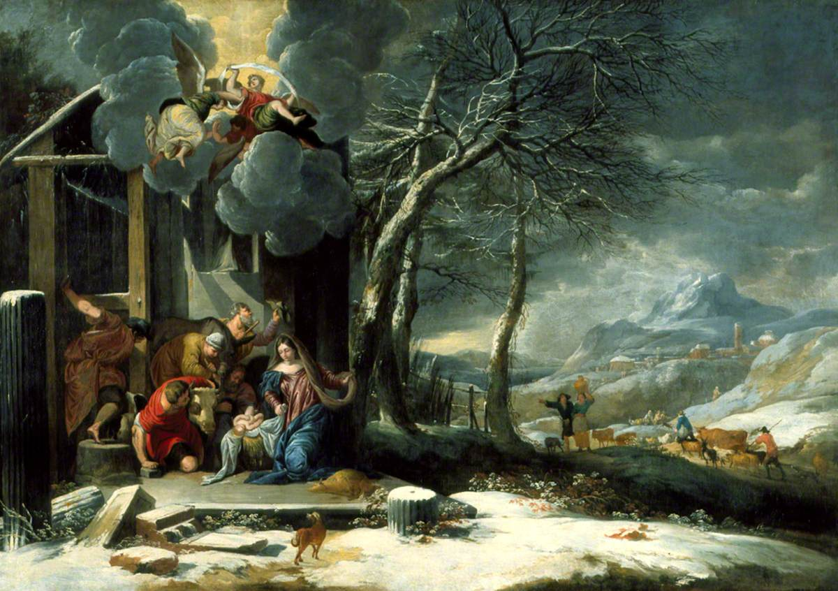 Winter Landscape with the Nativity