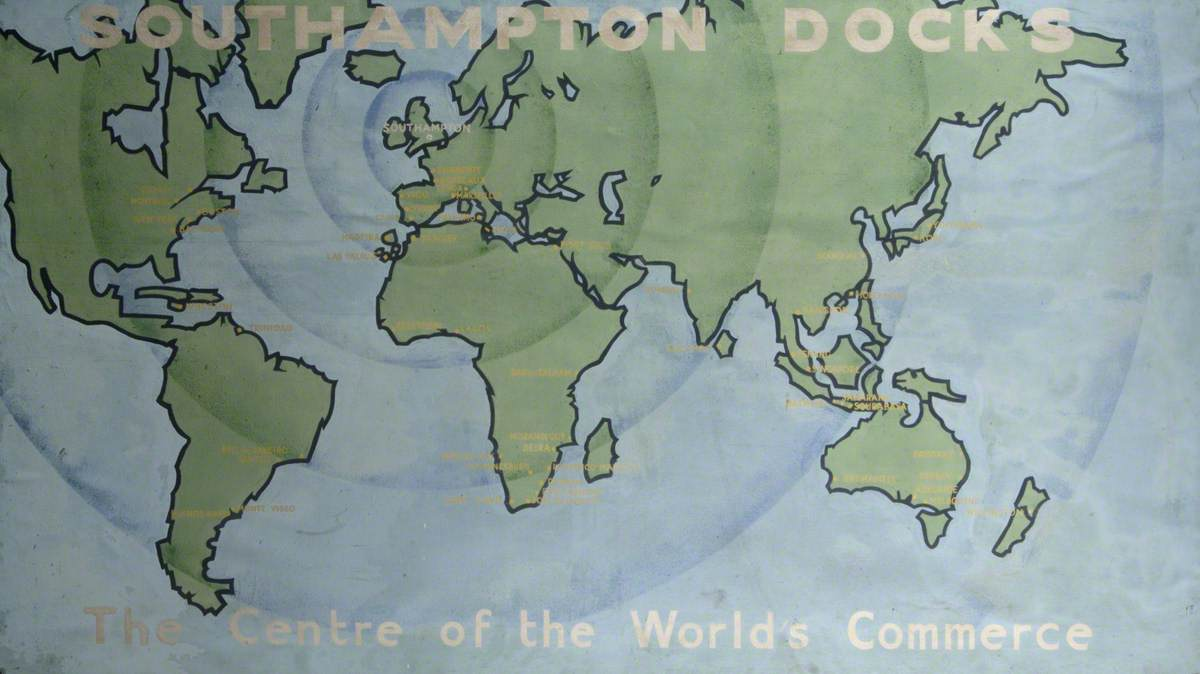 'Southampton Docks, Centre of the World's Commerce'