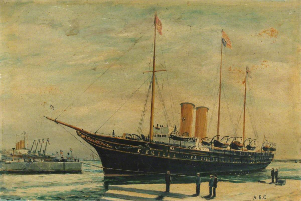 'HMY Victoria & Albert' Entering King George V Dock, Southampton