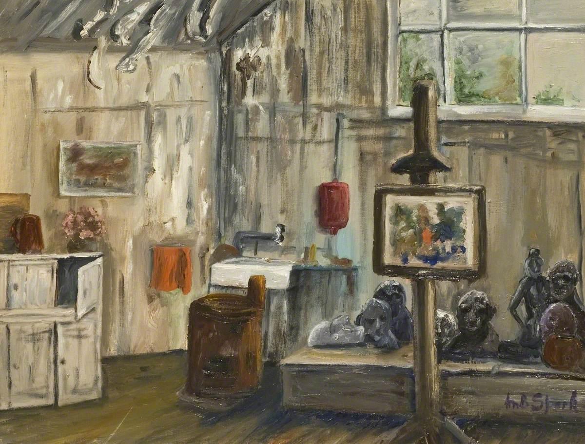 Interior of the Frobisher Studio, Bushey