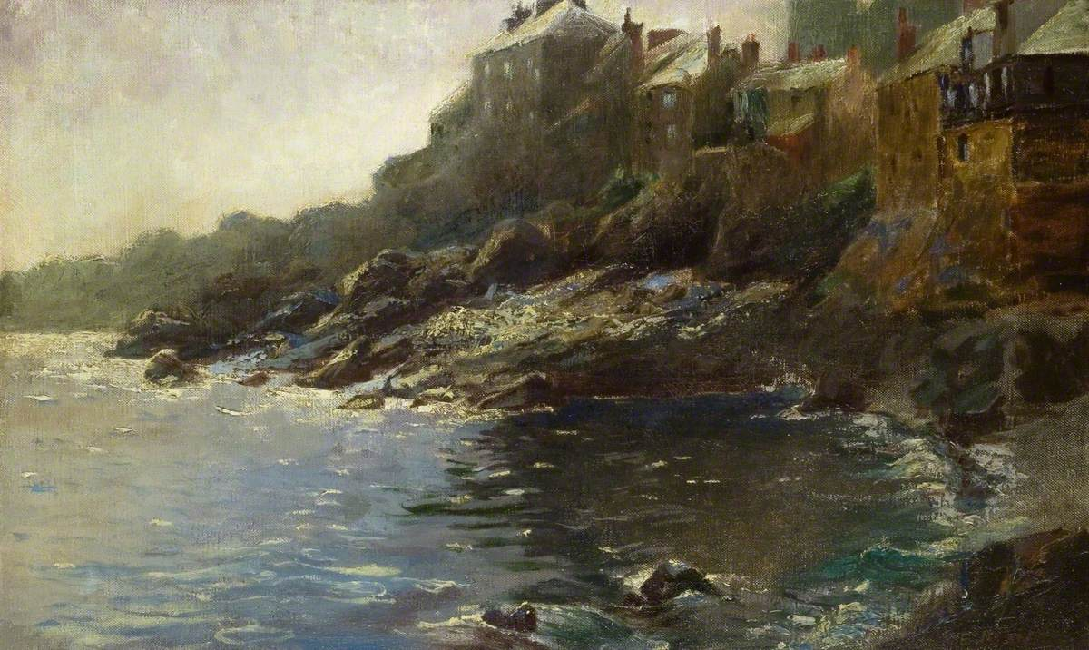 Cottages on a Rocky Shore