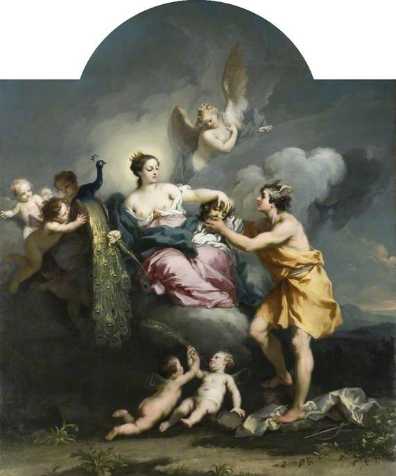 Juno Placing the Eyes of Argos on the Tail of a Peacock