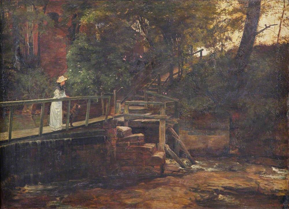 Footbridge at Birch Hill House, Mucklow Hill, Worcestershire