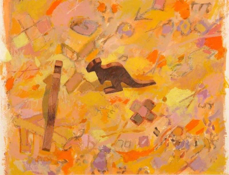 Kangaroos on a Desert Carpet