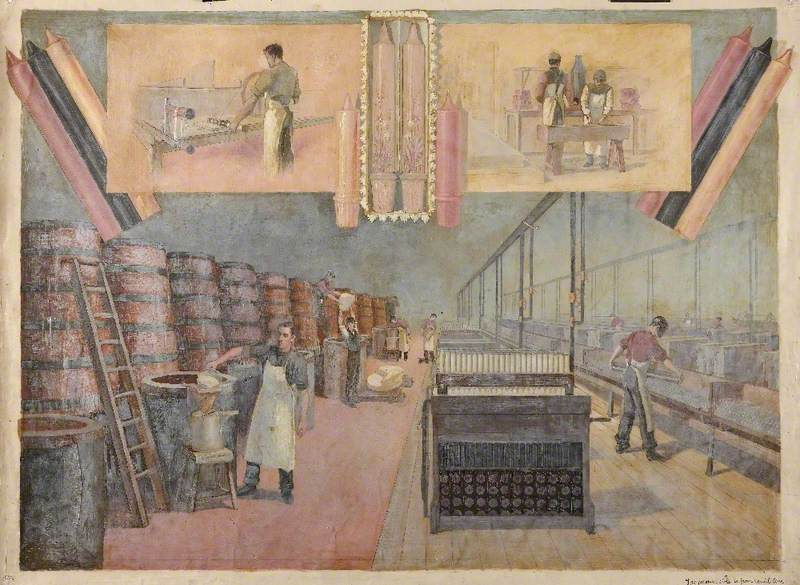 Candlemaking Factory Scene