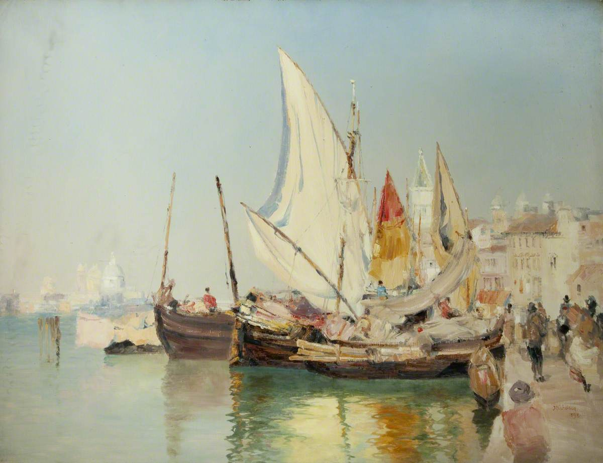Barges, The Grand Canal, Venice