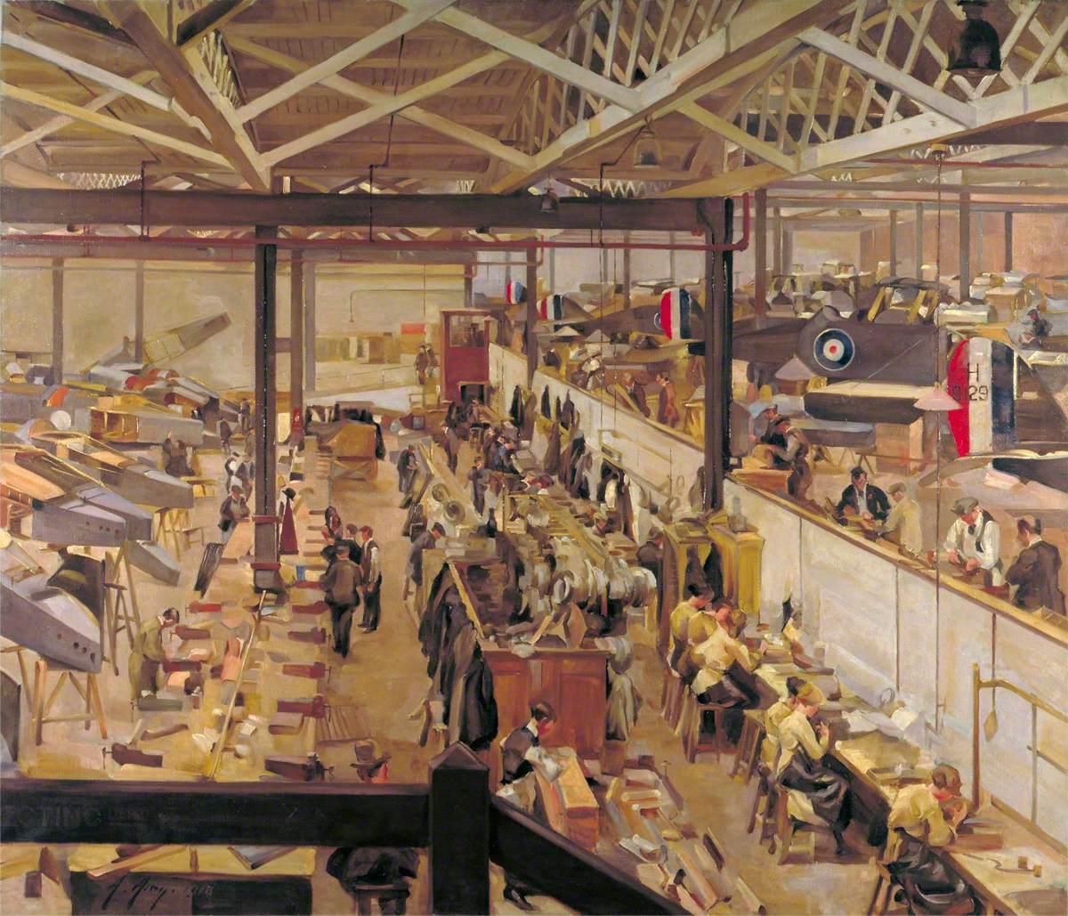 An Aircraft Assembly Shop, Hendon