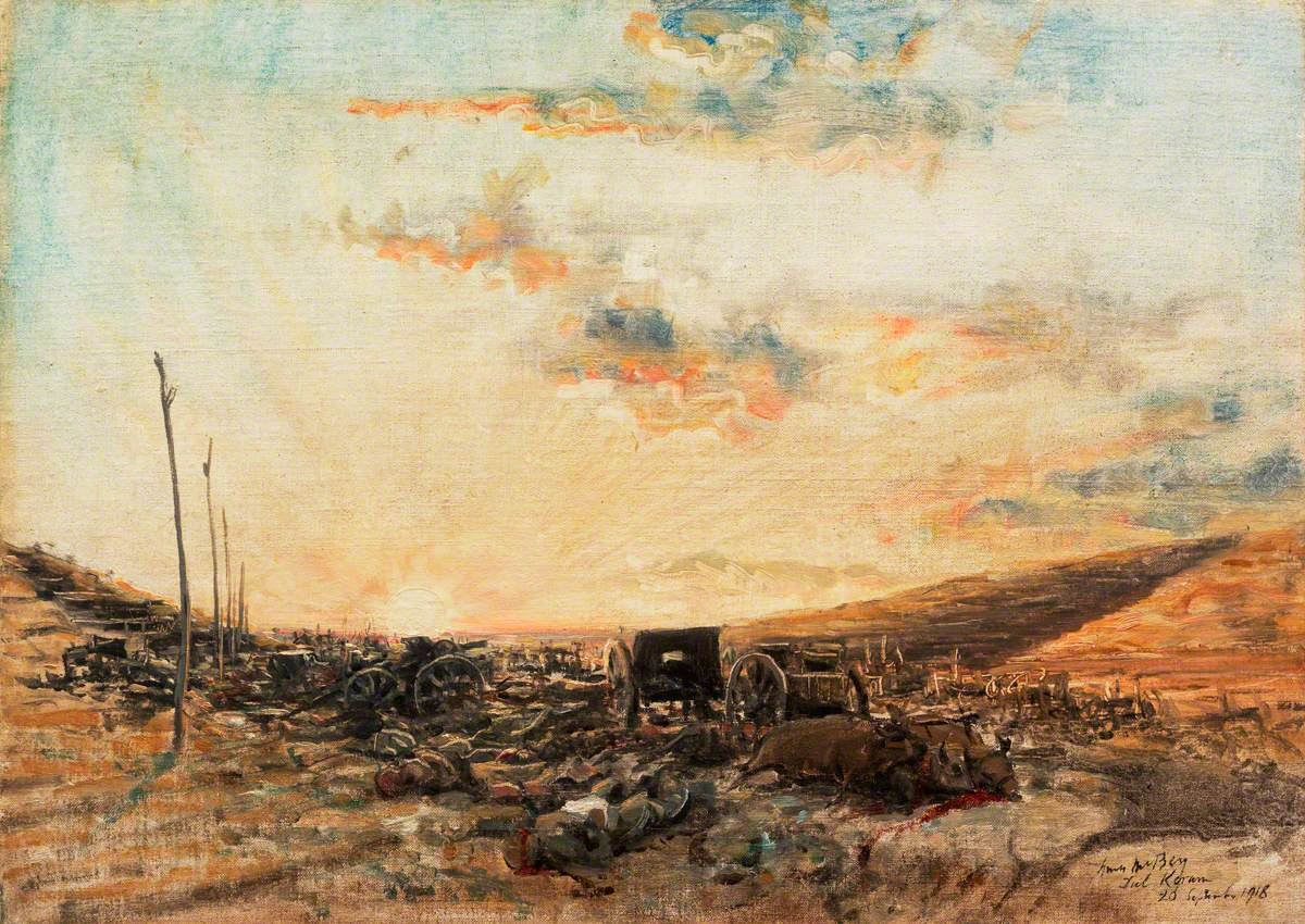 Tul Keram: A Retreating Turkish Column Bombed and Machine-Gunned by Airmen in the Defile at Tul Keram, 26 September 1918