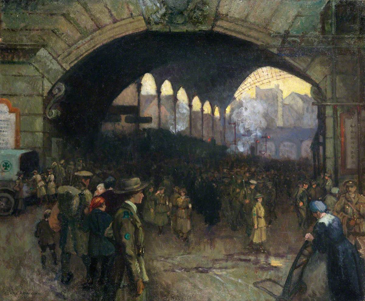 Victoria Station, 1918: The Green Cross Corps (Women's Reserve Ambulance), Guiding Soldiers on Leave