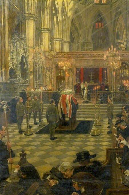 The Funeral Service of Edith Cavell at Westminster Abbey, 15 May 1919