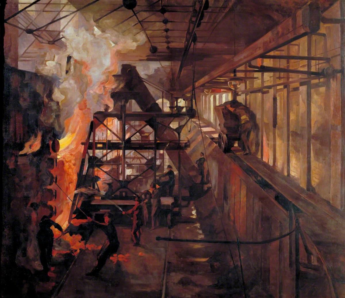 Women Working in a Gas Retort House: South Metropolitan Gas Company, London